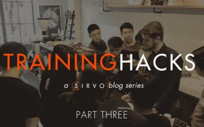 Training Hacks: Developing an Effective Training Process